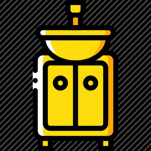 bathroom, furniture, house, sink, wash icon