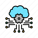 cloud, devices, future, life, storaging, working icon