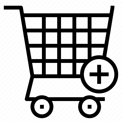 add, cart, item, plus, shopping icon