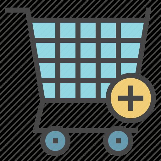 add, cart, item, plus, shopping icon