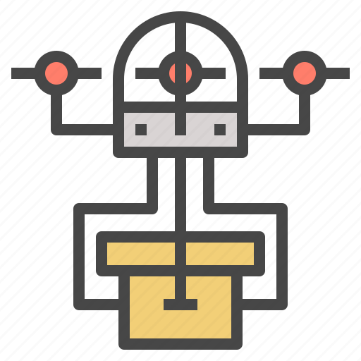 delivery, drone, future, logistics, quadcopter, shipping, technology icon