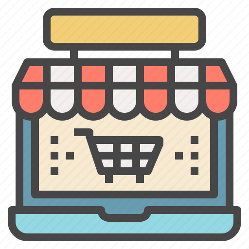 online, shopping, store, technology, webshop icon