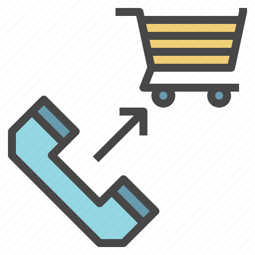 buy, call, order, over, phone, shop, shopping icon
