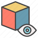 block, cube, detail, inspect, item, privacy, view icon