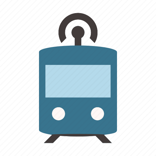 connected, driverless, self driving, smart, subway, train, transport icon