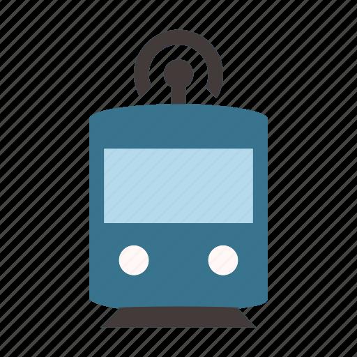 autonomous, driverless, self driving, smart, subway, train, transport icon