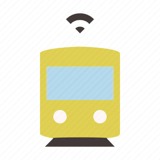 autonomous, driverless, self driving, smart, subway, train, transport icon