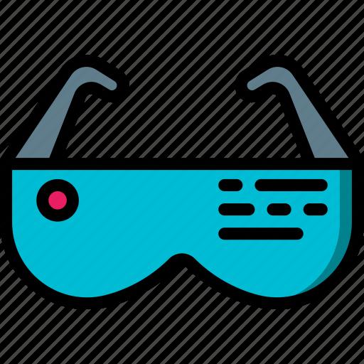 future, glasses, high tech, smart, tech, technology icon