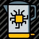 future, high tech, kettle, smart, tech, technology