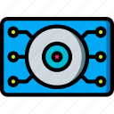 eye, future, high tech, robotic, tech, technology icon
