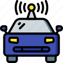 car, driving, future, high tech, self, tech, technology icon