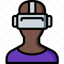 future, goggles, high tech, tech, technology, vr icon