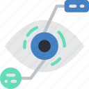 analysis, eye, future, high tech, tech, technology icon