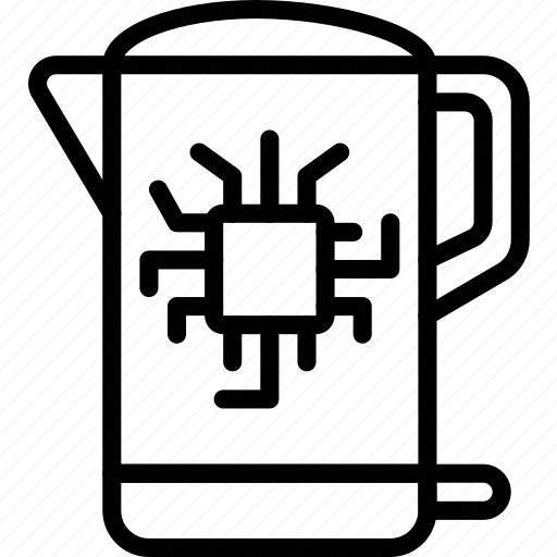 Future, high tech, kettle, smart, tech, technology icon - Download on Iconfinder