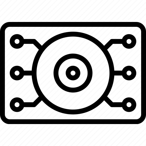 eye, future, high tech, robotic, tech, technology icon