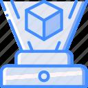 future, high tech, hologram, tech, technology icon