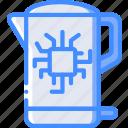 future, high tech, kettle, smart, tech, technology icon