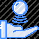 future, high tech, tech, technology, telekinesis icon
