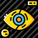 analysis, eye, future, high tech, tech, technology icon