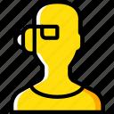 eye, future, high tech, tech, technology, wear icon
