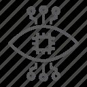 artificial, bionic, contact, eye, lens, technology icon