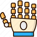 artificial intelligence, futuristic, hand, robot, robotic hand icon