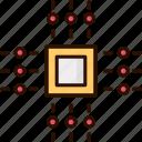 chip, quantum, microprocessor, quantum computing, processor icon
