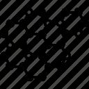 atom, nano, nanotechnology, polymer, robot icon