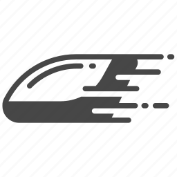fast, futuristic, hyperloop, pod, speed, transport, transportation icon