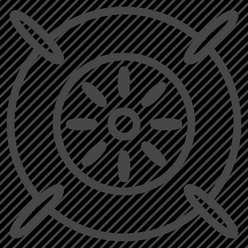 engine, futuristic, hyperloop, technology, transportation, turbine icon