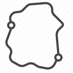hyperloop, map, race, route, technology, track, transportation icon