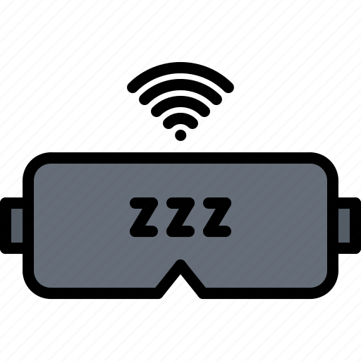 device, gadget, mask, sleep, smart, technology, tracker icon