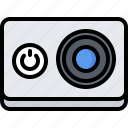 action, camera, device, gadget, photo, smart, technology icon