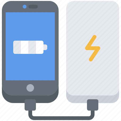 bank, device, gadget, phone, power, smart, technology icon