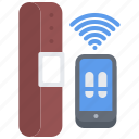 app, belt, device, gadget, phone, smart, technology icon