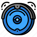 clean, cleaner, robotic, vacuum icon