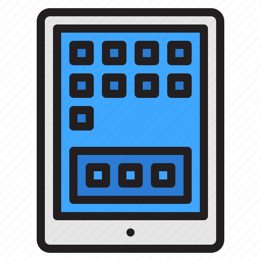 screen, tablet, technology, touch icon