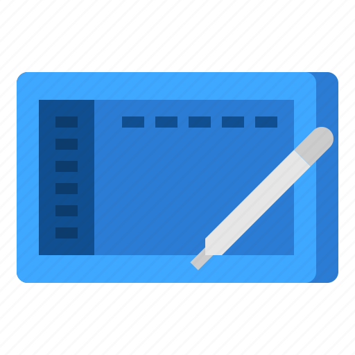 drawing, graphic, pen, tablet icon