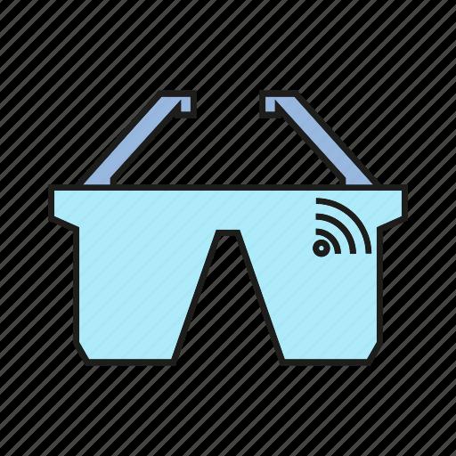 device, electronic, gadget, smart glasses, virtual reality, wifi icon