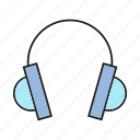 device, electronic, gadget, headphone, sound icon