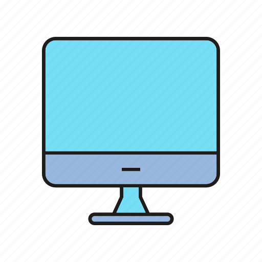 computer, desktop, electronic, monitor, screen icon