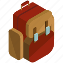 backpack, bag, baggage, briefcase, rucksack icon