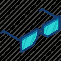 eye, eyeglasses, glasses, spectacles, vision icon