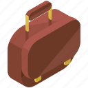 accessories, bag, baggage, briefcase, luggage, suitcase icon