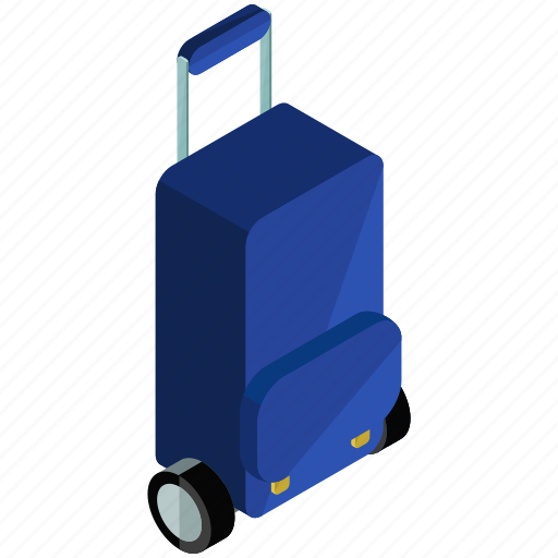 Luggage, rolling, bag, briefcase, suitcase, trolley icon - Download on Iconfinder