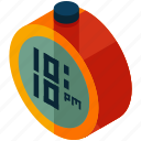 alarm, round, clock, time, timer, alert icon