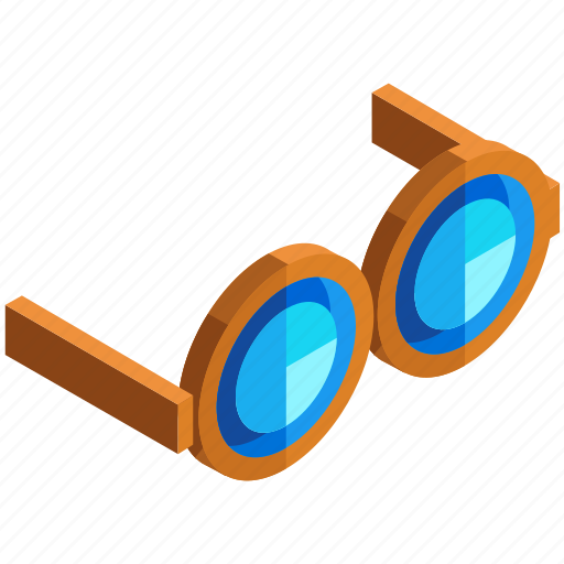 eyeglasses, glasses, round, spectacles, vision icon