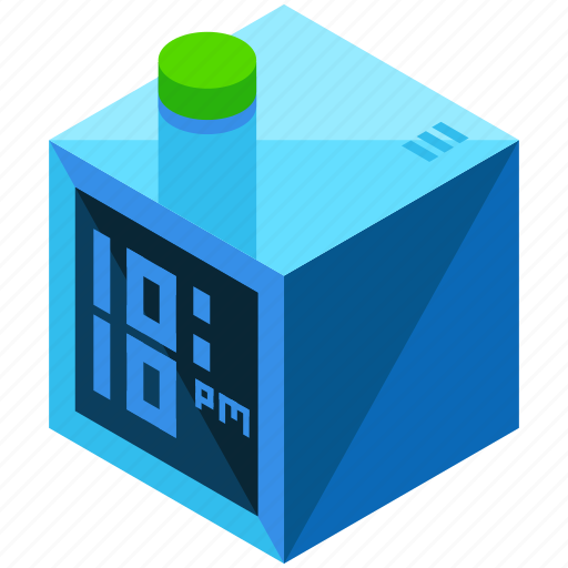 alarm, clock, square, time, timer icon