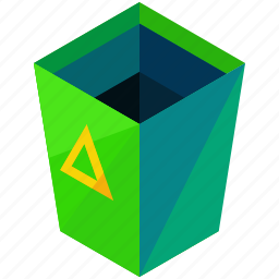 bin, can, garbage, recycle, remove, trash icon