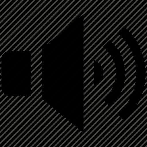audio, music, sound, speaker, voice, volume icon